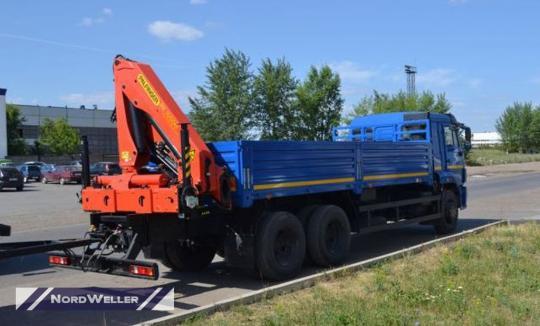 Бортовой Камаз 65117 с КМУ Palfinger РК23500A и колесосъемом NW2705