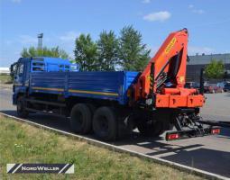 Бортовой Камаз 65117 с КМУ Palfinger РК 14.501К SLD 5 и колесосъемом NW2405