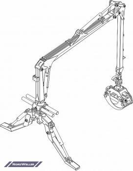 Кран-манипулятор PALMS 2.42