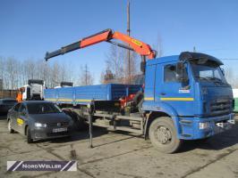 Бортовой КАМАЗ 65117 с КМУ Palfinger PK15500A
