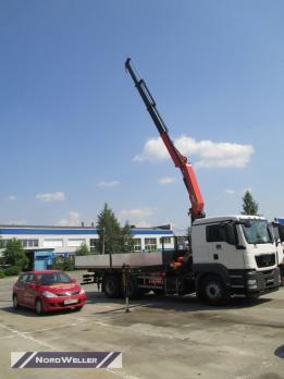 Бортовой MAN TGS 33.350 c КМУ Pafinger Pk30002K-B