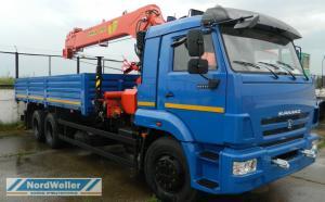 Бортовой КАМАЗ 65117  с КМУ Инман ИТ180