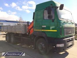 Бортовой МАЗ 6312 с КМУ Palfinger PK10000A