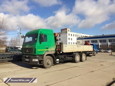Бортовой МАЗ 6312 с КМУ Palfinger PK15500A