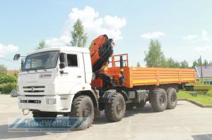 Бортовой КАМАЗ 63501 с КМУ Palfinger PK23500A