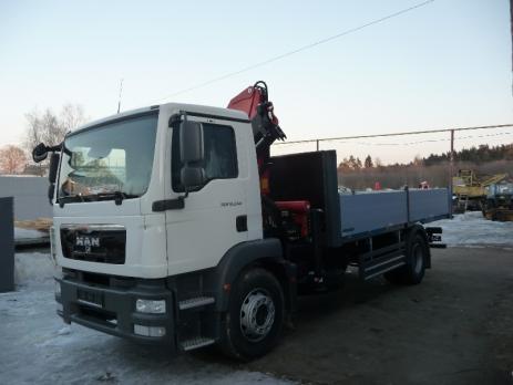 Бортовой MAN TGM 18.250 c КМУ Pafinger Pk15500A