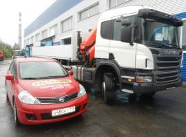 Бортовой Scania P420 с КМУ Palfinger PK15500A