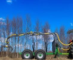 ПолуПрицеп тракторный с КМУ Farma  CT 4,2-6