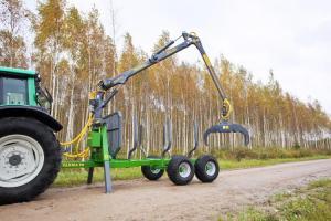 ПолуПрицеп тракторный с КМУ Farma CT 5,3-9