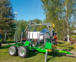 ПолуПрицеп тракторный с КМУ CT 6,7 - 10F 4WD